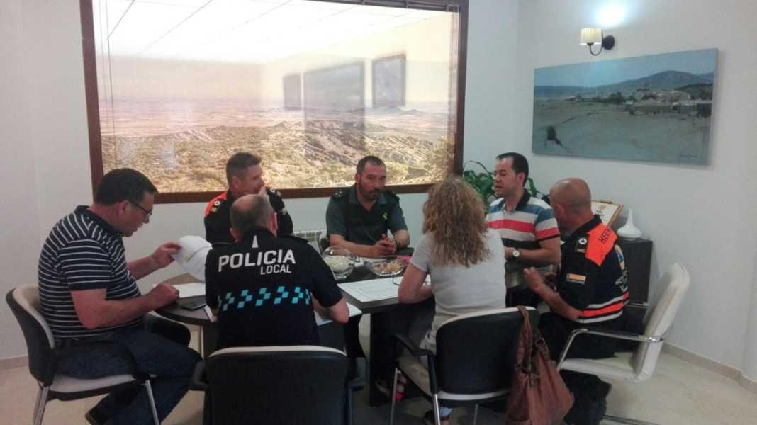 Reunión Junta Local de Seguridad de Herencia por Concierto de Melendi
