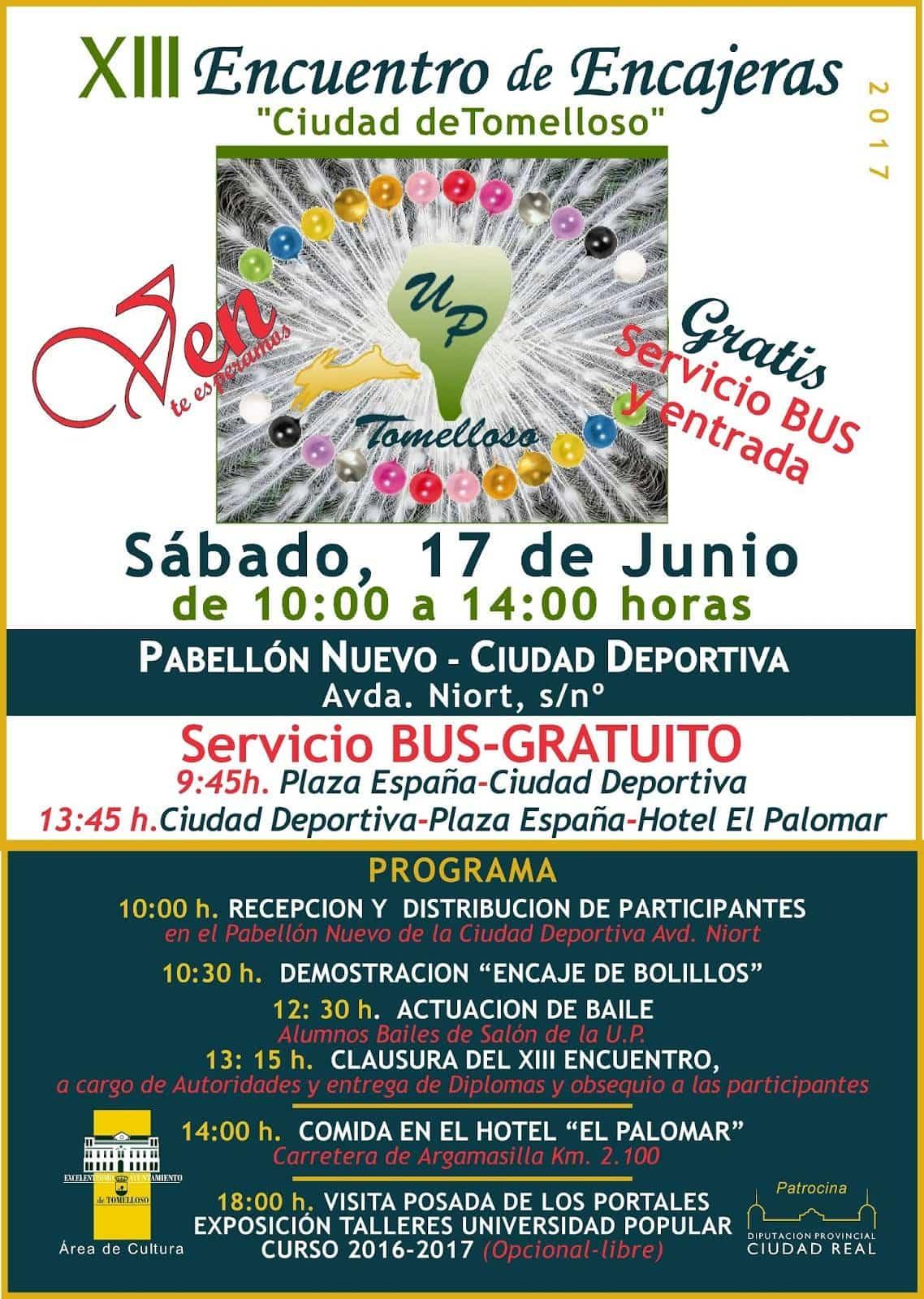 programa de encuentro encajeras tomelloso - Más de 300 encajeras participarán en el XIII Encuentro de la Universidad Popular