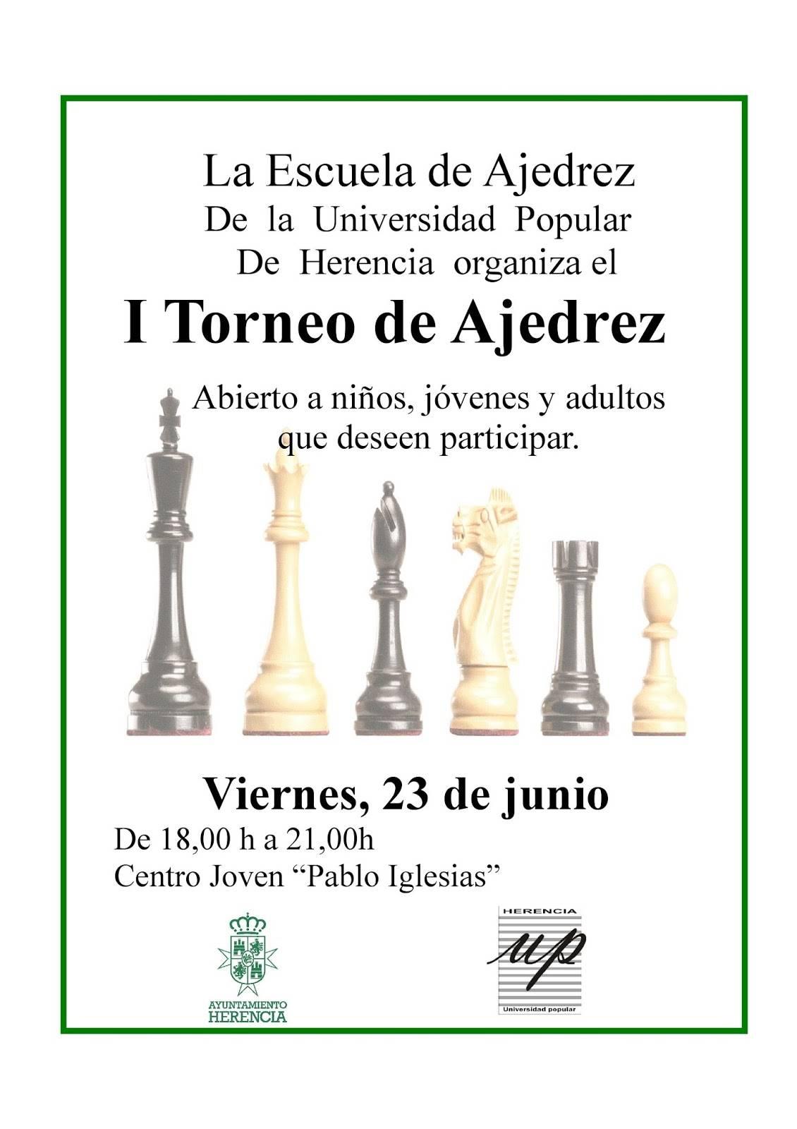 torneo de ajedrez 2017 herencia - I Torneo de la Escuela de Ajedrez de la Universidad Popular en Herencia