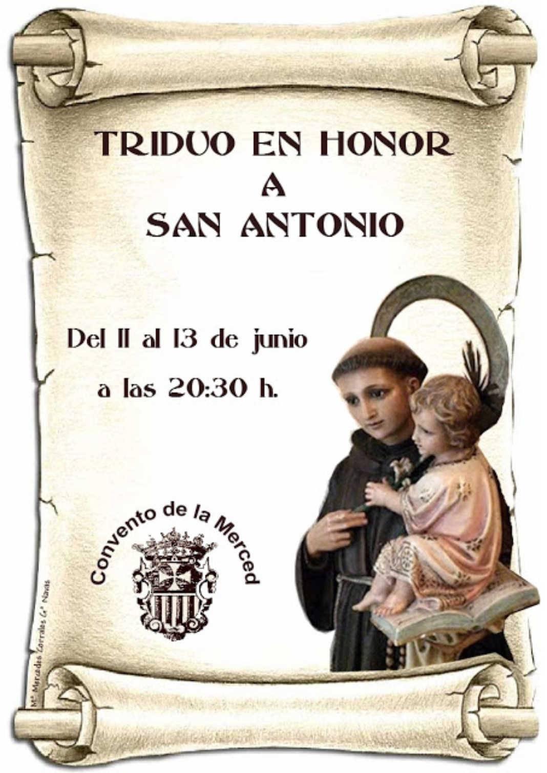 triduo san antonio  1068x1509 - Triduo en honor a San Antonio del 11 al 13 de junio