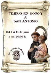 triduo san antonio  212x300 - Triduo en honor a San Antonio del 11 al 13 de junio