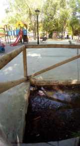 zona infantil parque herencia mal estado 2 161x293 - Zona infantil del parque sigue necesitando una renovación urgente