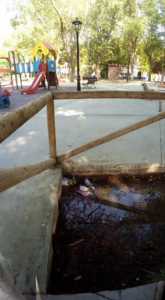 Zona infantil del parque sigue necesitando una renovación urgente 2