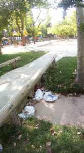 Zona infantil del parque sigue necesitando una renovación urgente 4