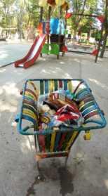 zona infantil parque herencia mal estado - 5