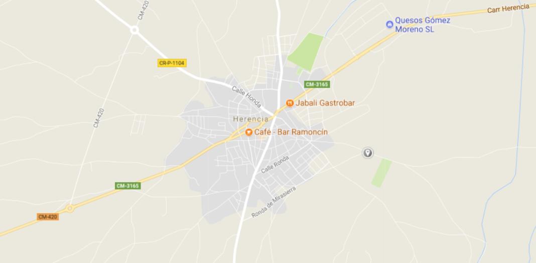 CM 420 Google Maps 1068x524 - Se aprueba el proyecto de trazado: Mejora de accesos a la CM-420 en Herencia.