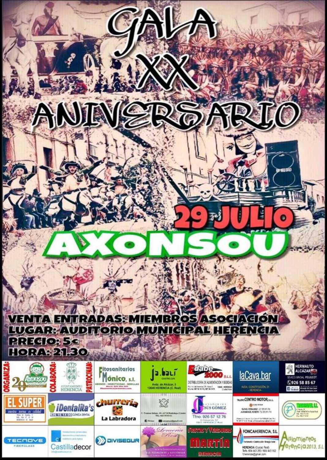 Gala XX aniversario de Axonsou 1068x1503 - Axonsou prepara una gala para celebrar su vigésimo aniversario
