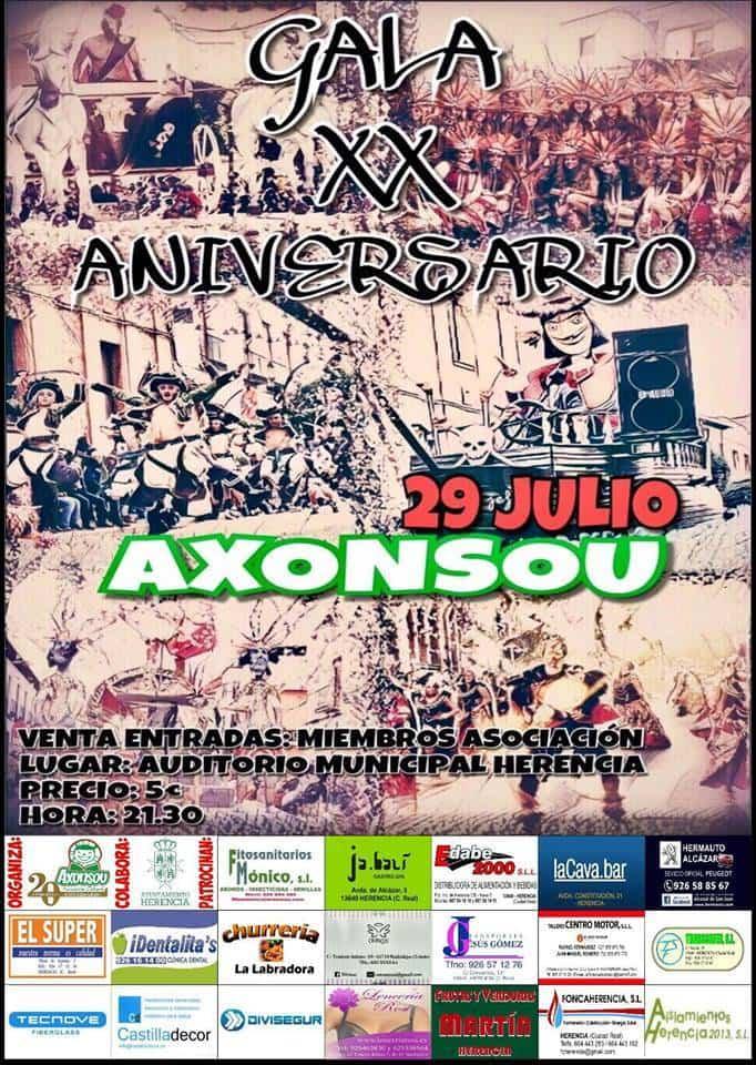 Gala XX aniversario de Axonsou - Axonsou prepara una gala para celebrar su vigésimo aniversario