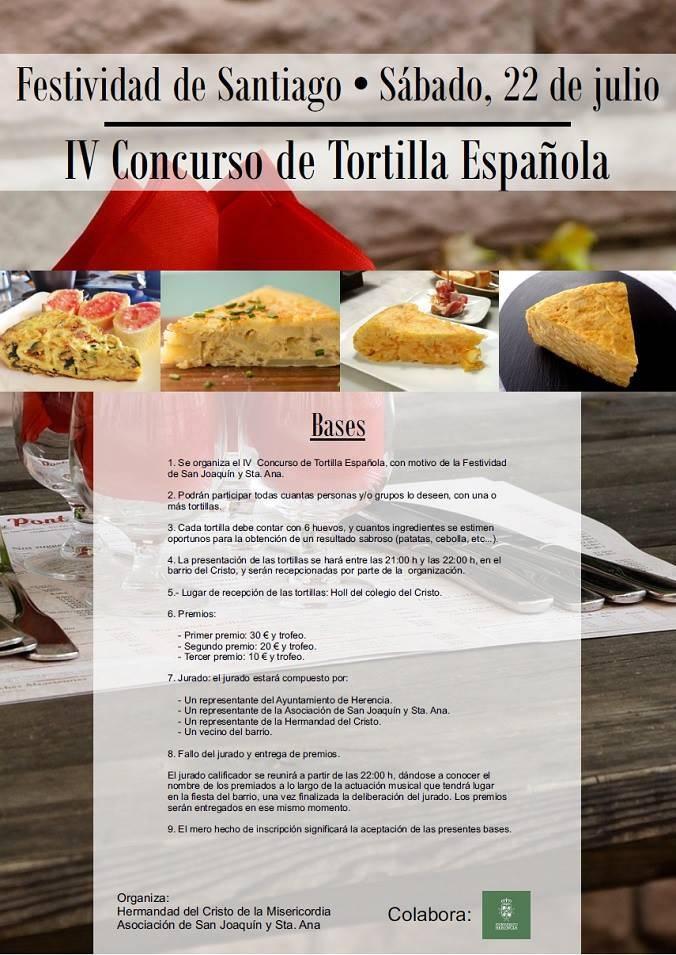 IV Concurso de Tortilla Española el 22 de julio 1