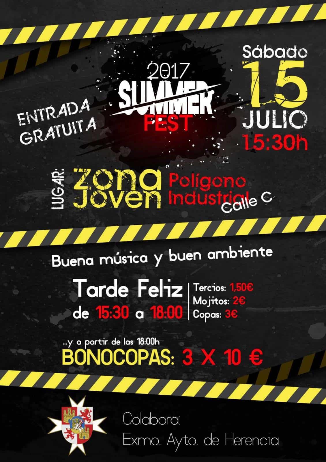 Summer fest jarra y pedal 2 - Actividades para todas las edades en la Zona Joven de Herencia