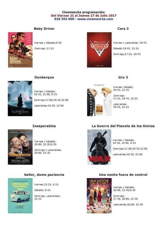 cartelera de cinemancha del 21 al 27 de julio - Programación Cinemancha del viernes 21 al jueves 27 de Julio