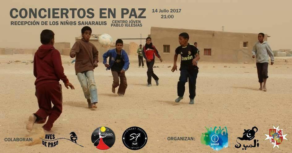 conciertos en paz recepcion de ni%C3%B1os saharauis - Conciertos en paz. Recepción de los niños saharauis en Herencia