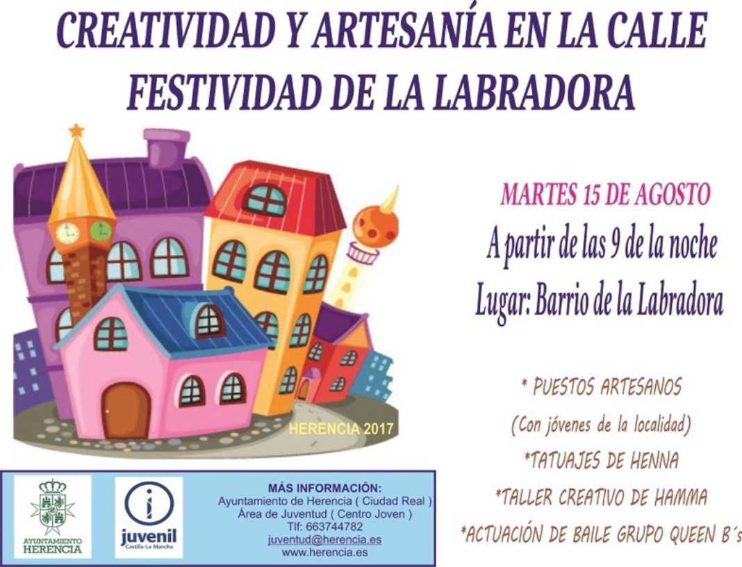 creatividad y artesania en la Labradora 1 1068x816 - Bailes, talleres y artesanía durante la festividad de La Labradora