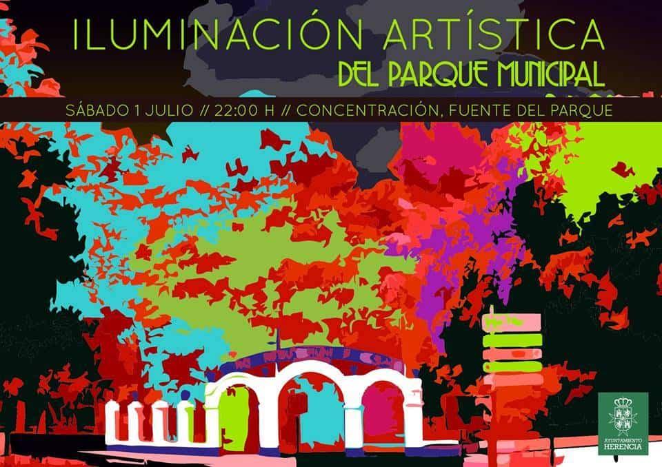 Iluminación artística del parque municipal 1