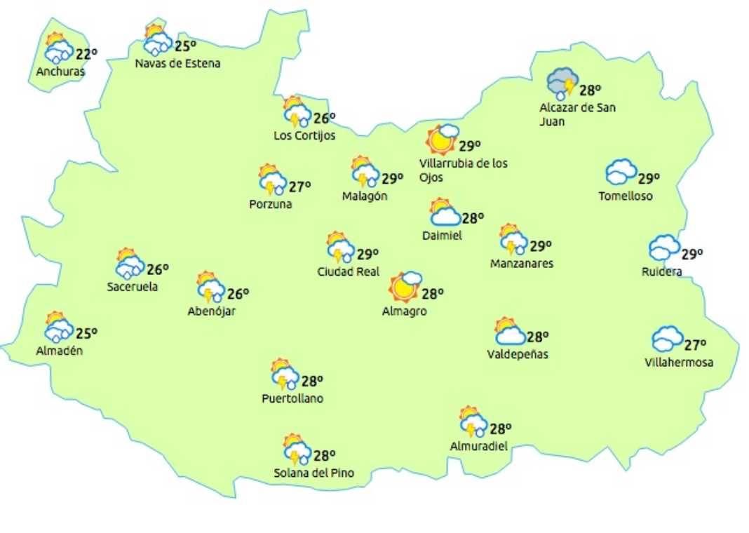 Aviso amarillo por tormentas y fuentes lluvias para el 6 de julio de 2017 4