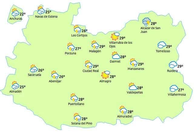 Aviso amarillo por tormentas y fuentes lluvias para el 6 de julio de 2017 3
