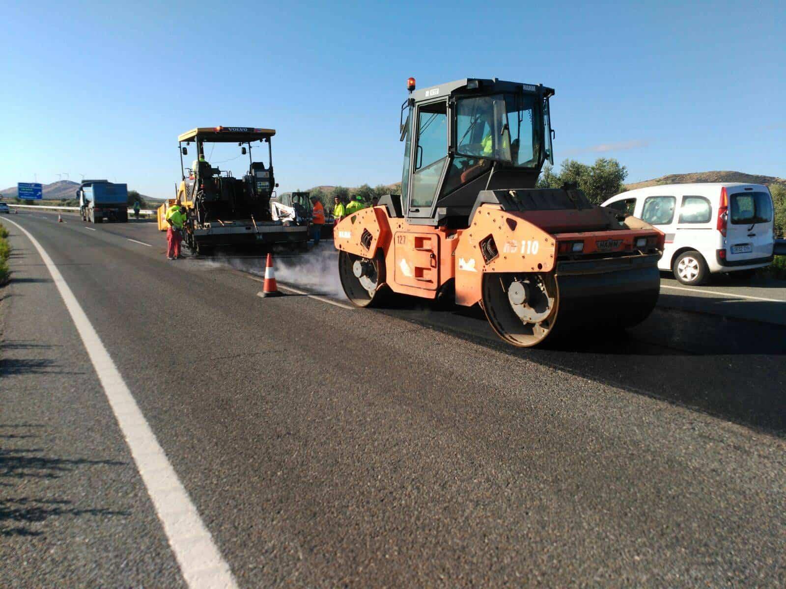 obras autovia vinedos 1 - Inicio de rehabilitación de pavimento en primer tramo de Autovía de los Viñedos