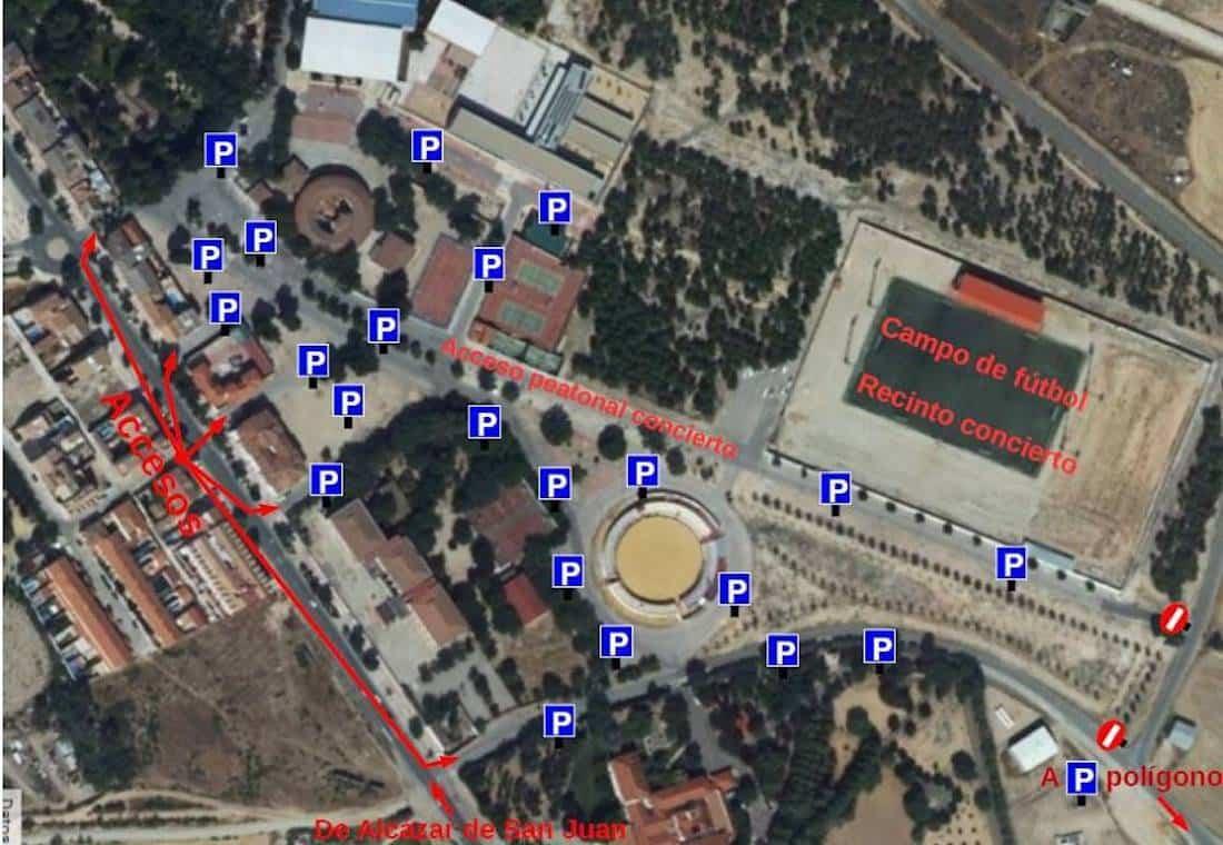 parking herencia concierto melendi entorno plaza toros - La Policía Local publica la zonas de parking para concierto de Melendi