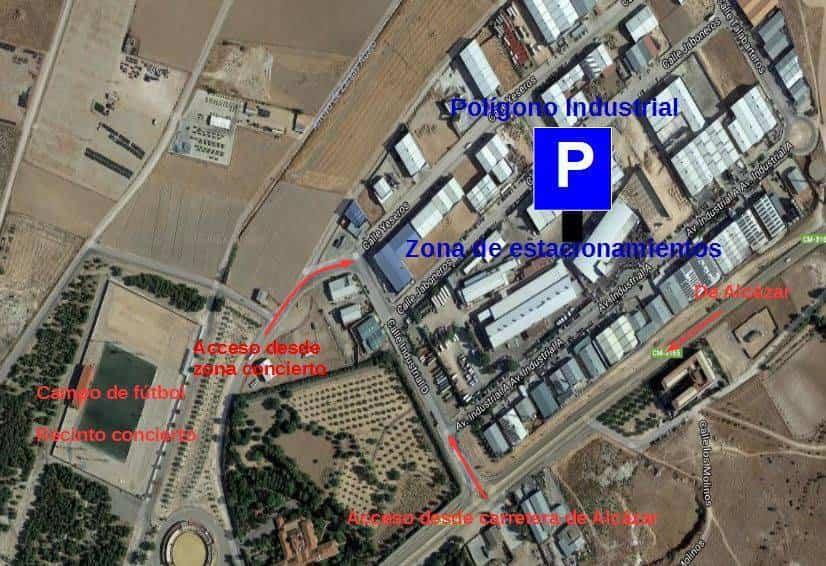 parking herencia concierto melendi poligono - La Policía Local publica la zonas de parking para concierto de Melendi
