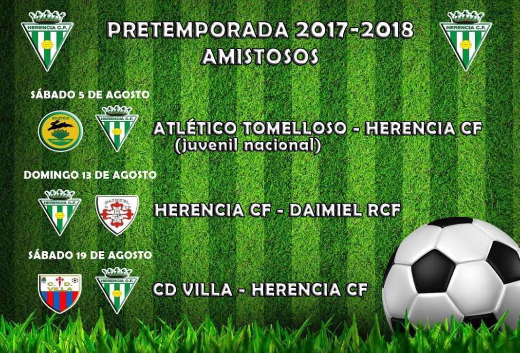 Próximos partidos amistosos de pretemporada 2017-2018 del Herencia CF 4