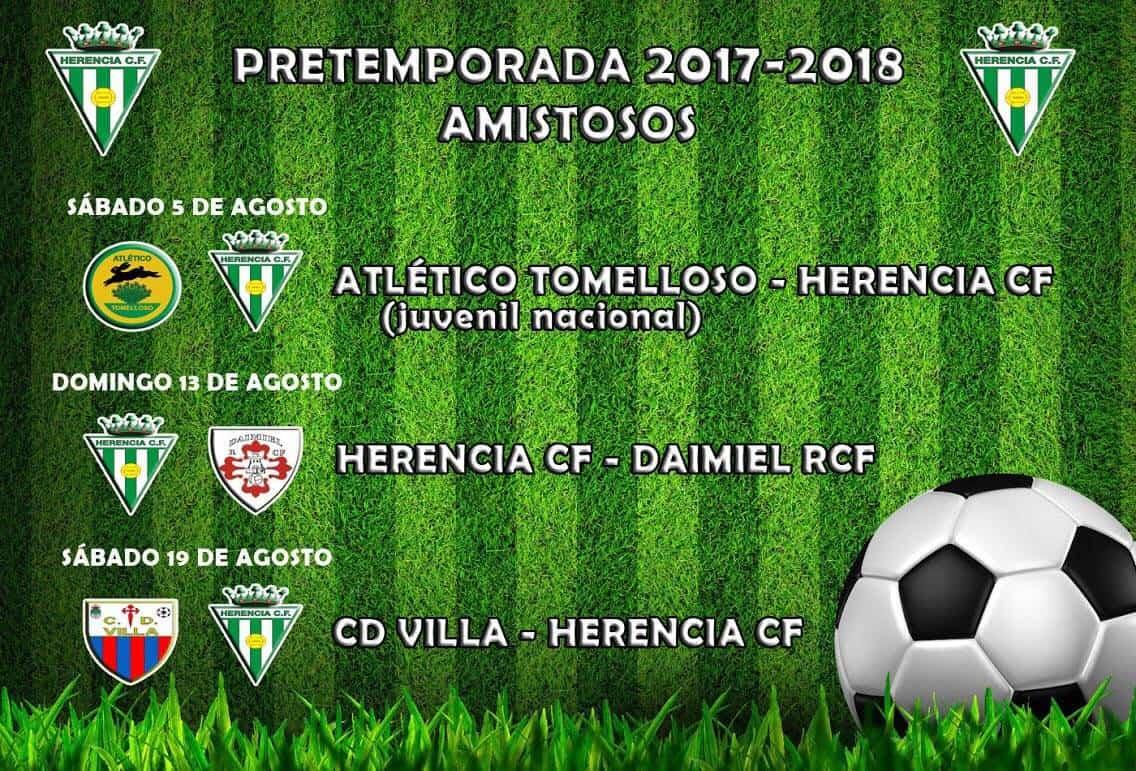 pretemporada herencia cf 2017 2018 - Próximos partidos amistosos de pretemporada 2017-2018 del Herencia CF