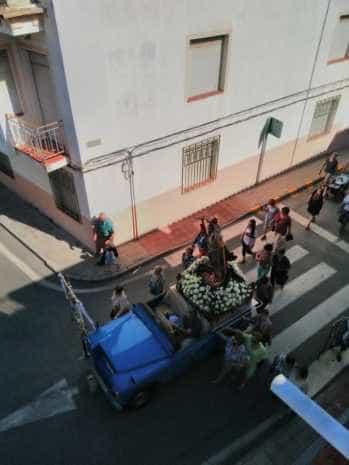Fotografías de la procesión de la imagen de San Cristóbal 1
