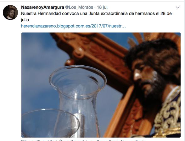 twitter de Los Moraos 1 - Las Hermandades de Pasión trabajan en la reforma de la Semana Santa de Herencia