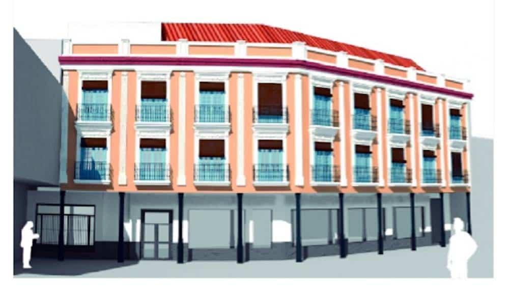 Fachada despues - Comienzan las obras de embellecimiento de la Plaza de España en Herencia