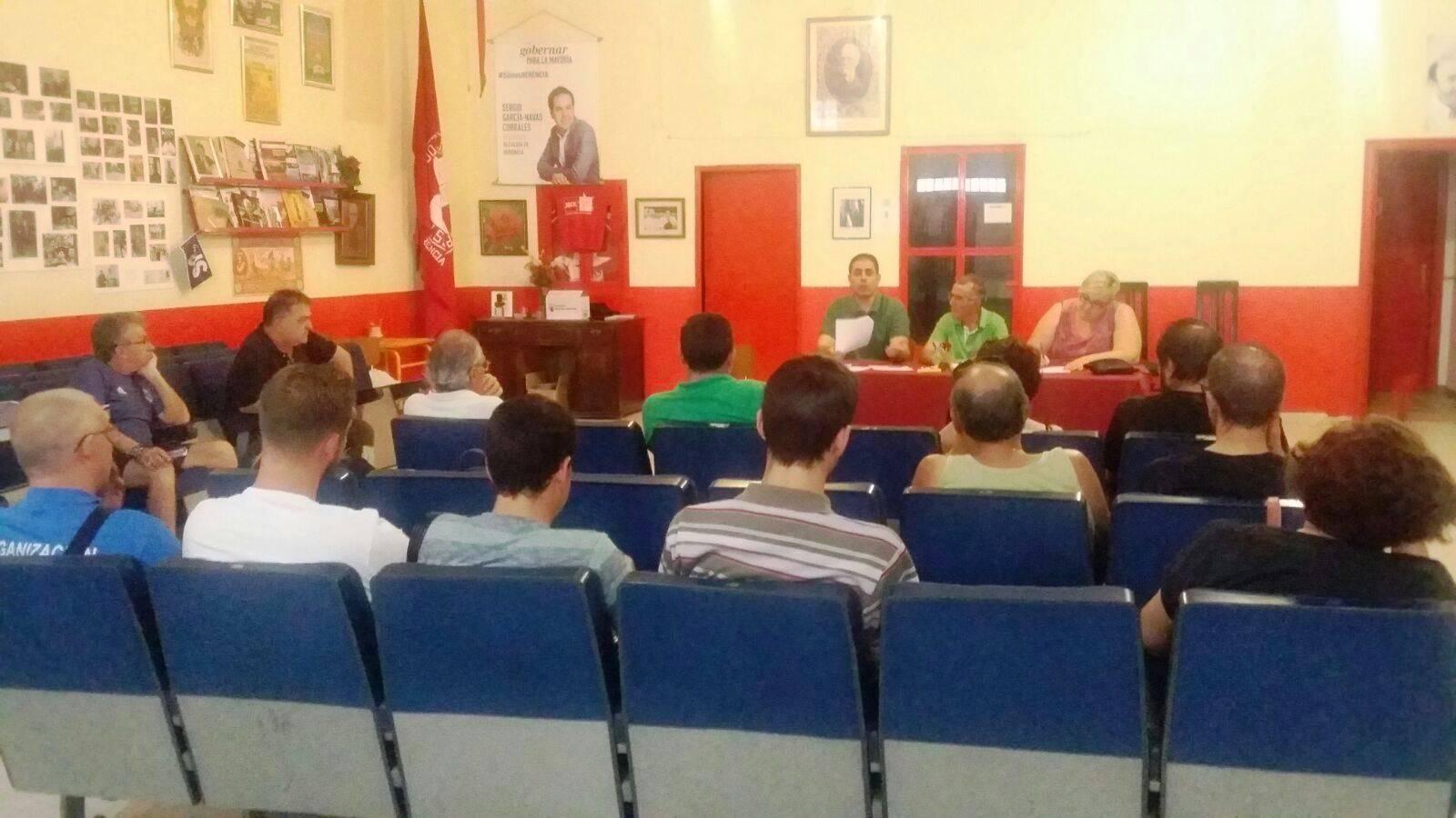 IMAGEN DE LA ASAMBLEA DEL PSOE DE HERENCIA - La asamblea del PSOE de Herencia considera importante aprobar los presupuestos regionales