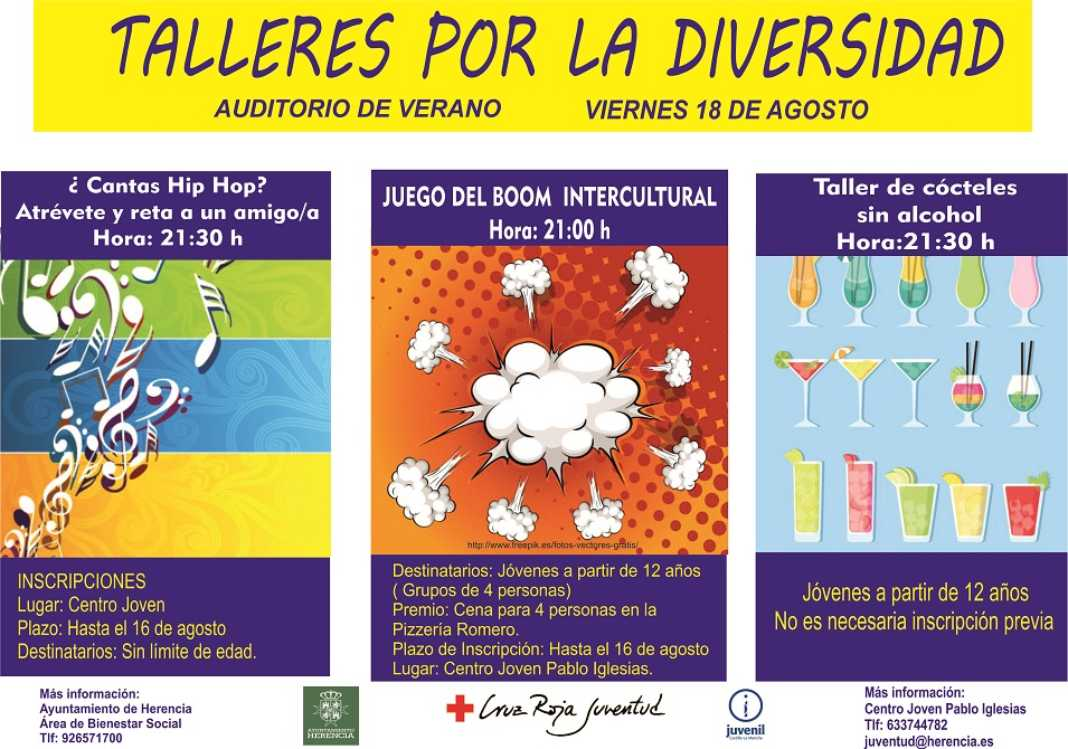 Talleres diversidad herencia 1068x749 - El área de Juventud presenta diferentes talleres por la diversidad