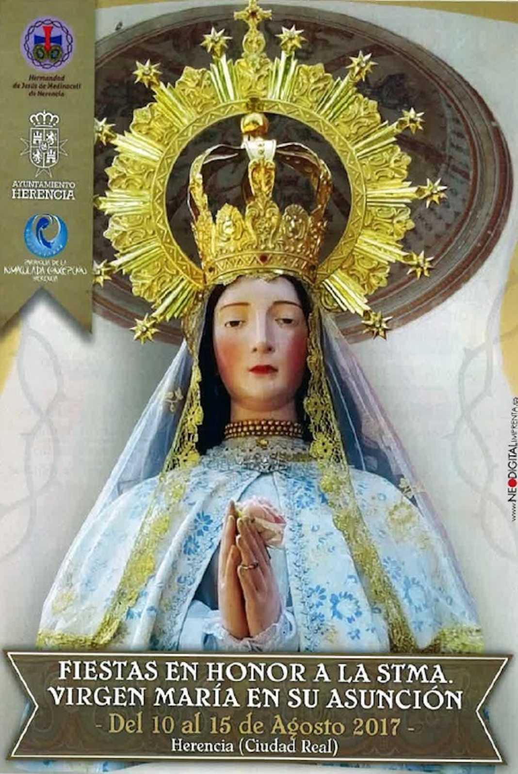 Virgen de la Asuncion Herencia 1068x1597 - El Barrio de la Labradora se engalana para celebrar sus fiestas en honor a la Virgen de la Asunción