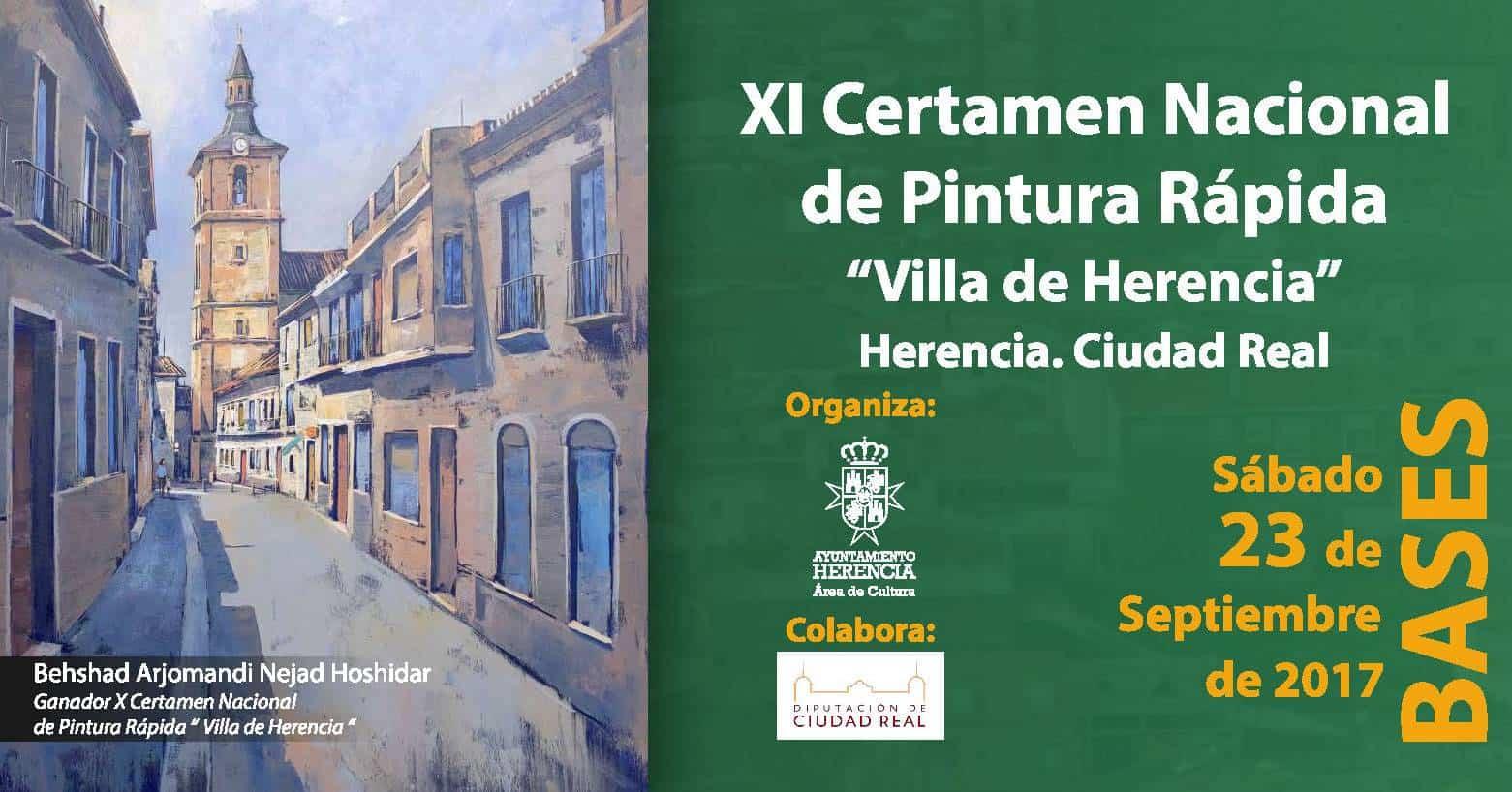 """XI certamen pintura rapida herencia - Convocado el XI Certamen Nacional de Pintura Rápida """"Villa de Herencia"""""""