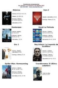 Cartelera Cinemancha del viernes 11 al jueves 17 de agosto 1
