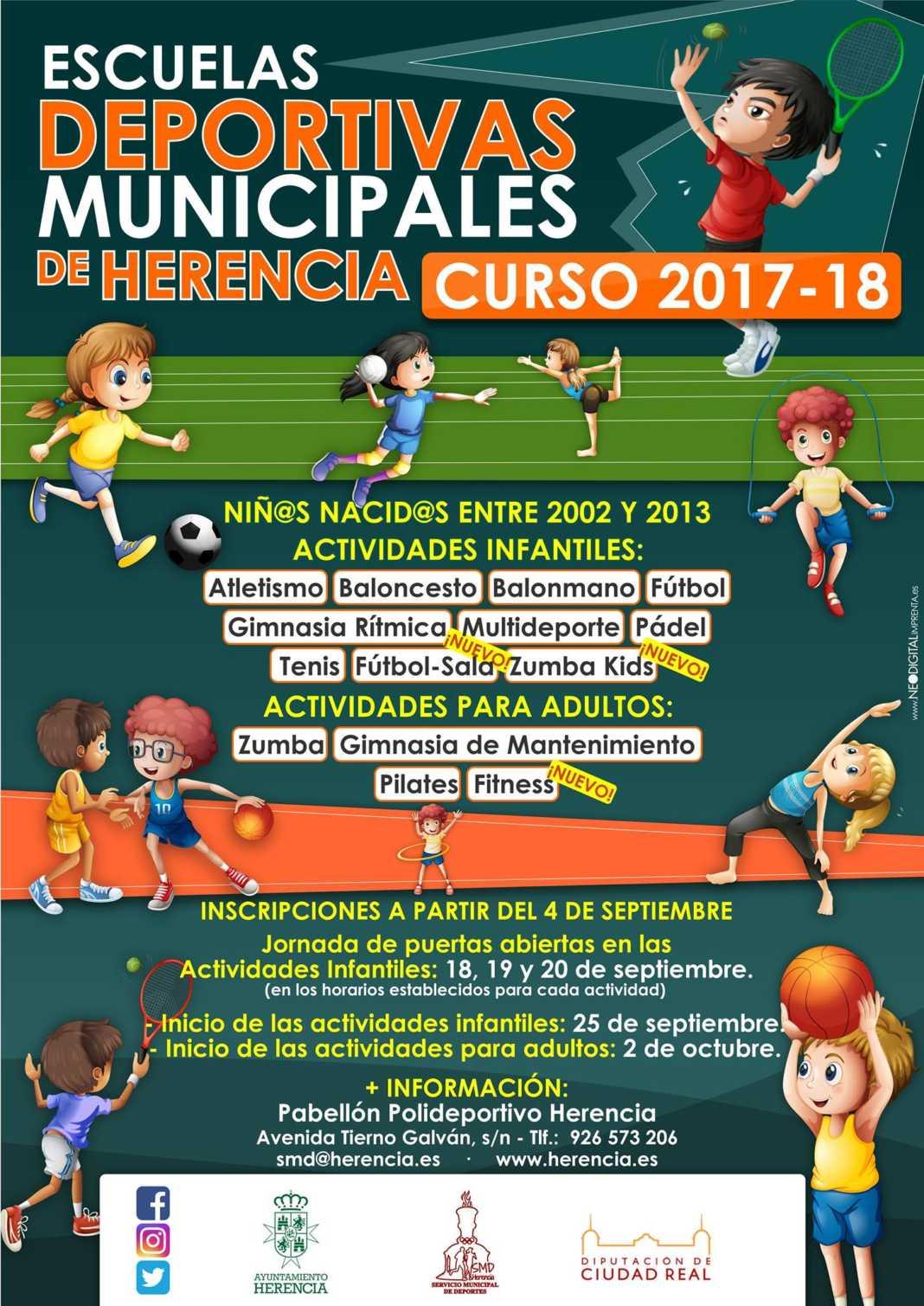 escuelas deportivas herencia 2017 2018 1068x1509 - Escuelas deportivas de Herencia ponen en marcha su programa para 2017/2018