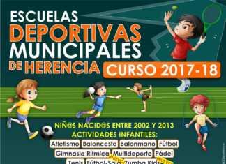 Programa de Escuelas deportivas de Herencia para 2017-2018