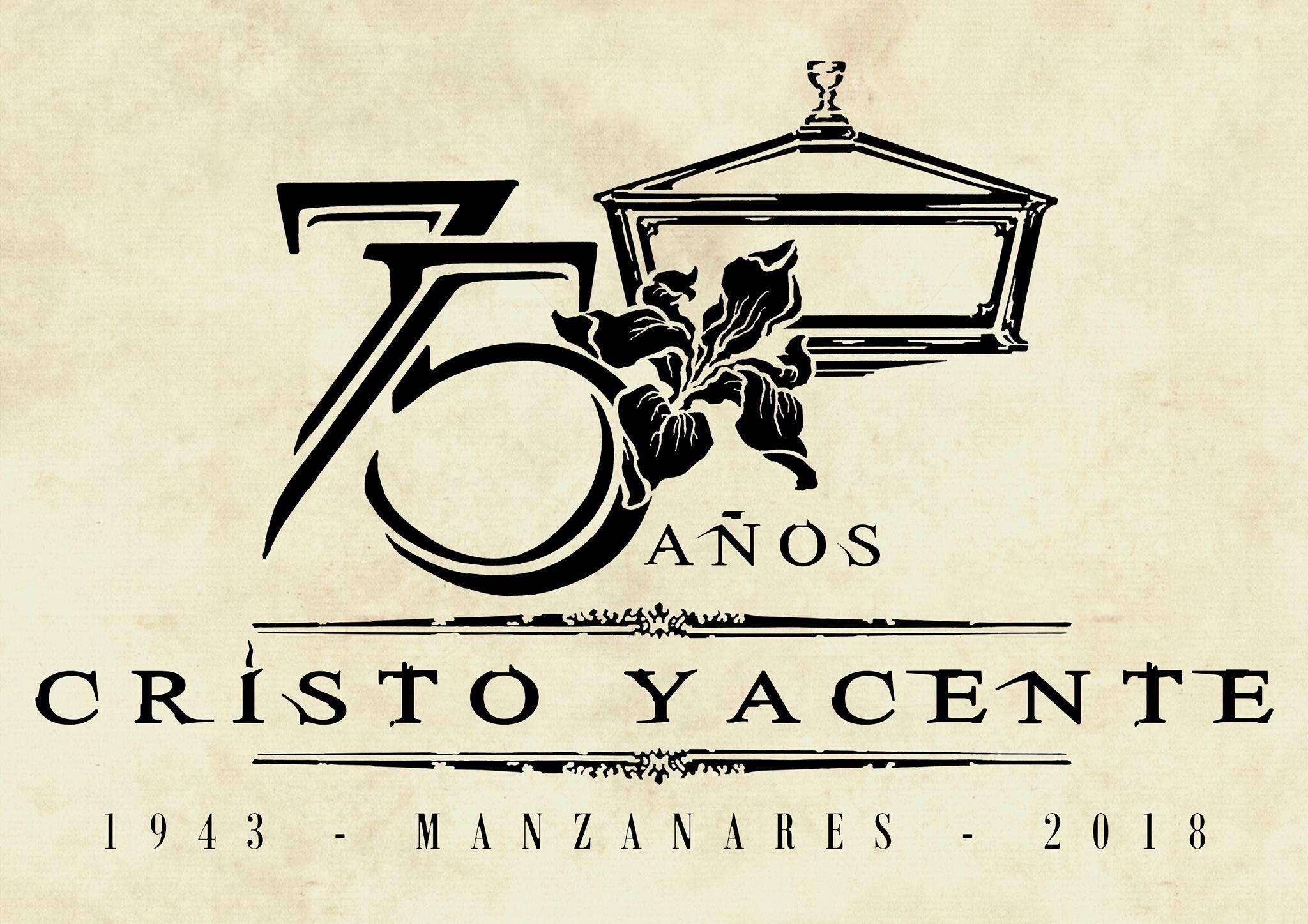 75 Aniversario del Cristo Yacente de Manzanares05 - Rafael Garrigós realiza el logo conmemorativo del 75 aniversario del Cristo Yacente de Manzanares