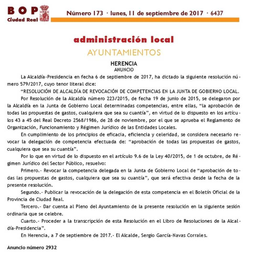 Alcaldía 1068x1094 - La Junta de Gobierno Local no podrá aprobar todas las propuestas de gastos, cualquiera que sea su cuantía