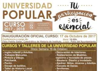 Cartel universidad popular herencia 1924-2017