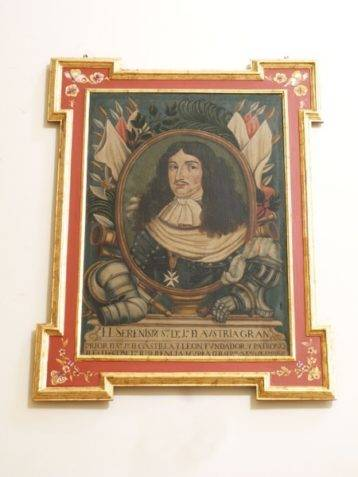Retrato de Juan Jose de Austria en la iglesia conventual de La Merced de Herencia