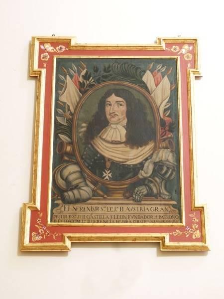 Cuadro de Jusn José de Austria de Herencia - El retrato de Don Juan José de Austria en el Convento de la Merced de Herencia
