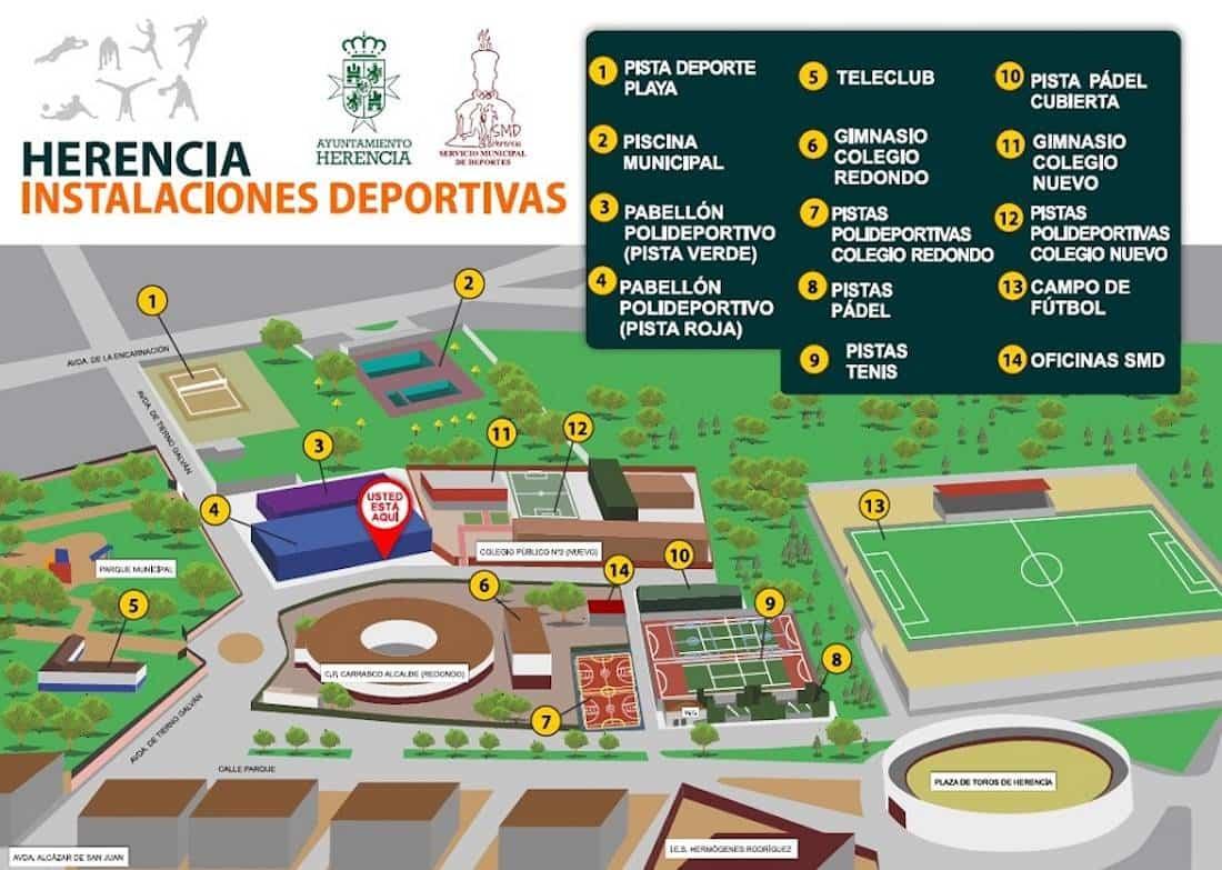 Nueva señalización de zonas deportivas de Herencia 9