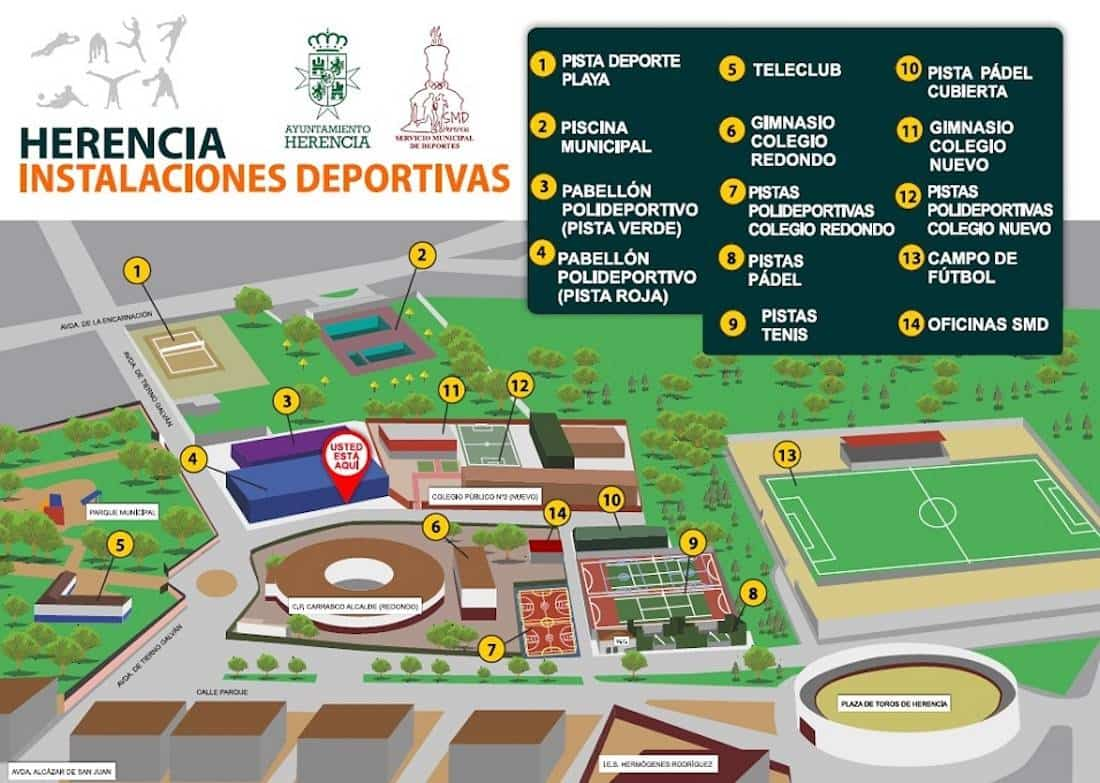 Instalaciones Deportivas - El gobierno regional premia al Ayuntamiento de Herencia por su promoción del deporte