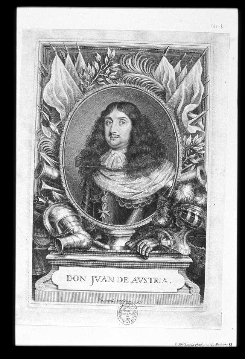 JUAN JOSE DE AUSTRIA. BIBLIOTECA NACIONAL 2 - El retrato de Don Juan José de Austria en el Convento de la Merced de Herencia