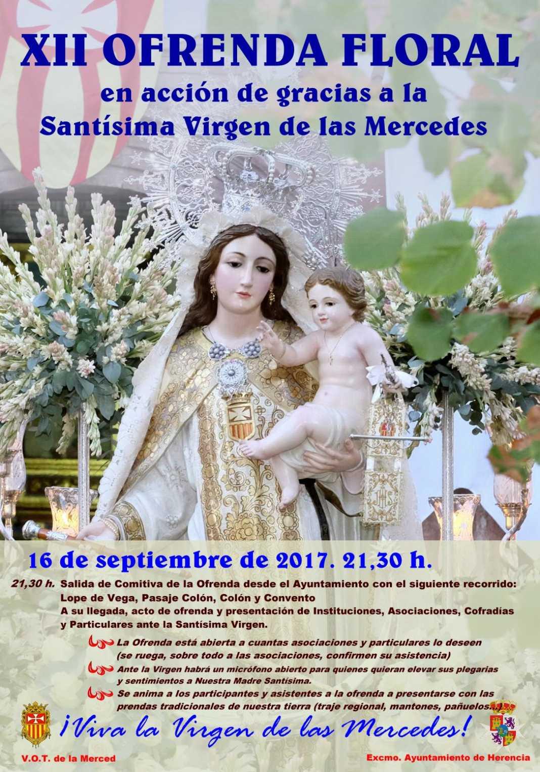 XII Ofrenda floral a la Virgen de las Mercedes 2