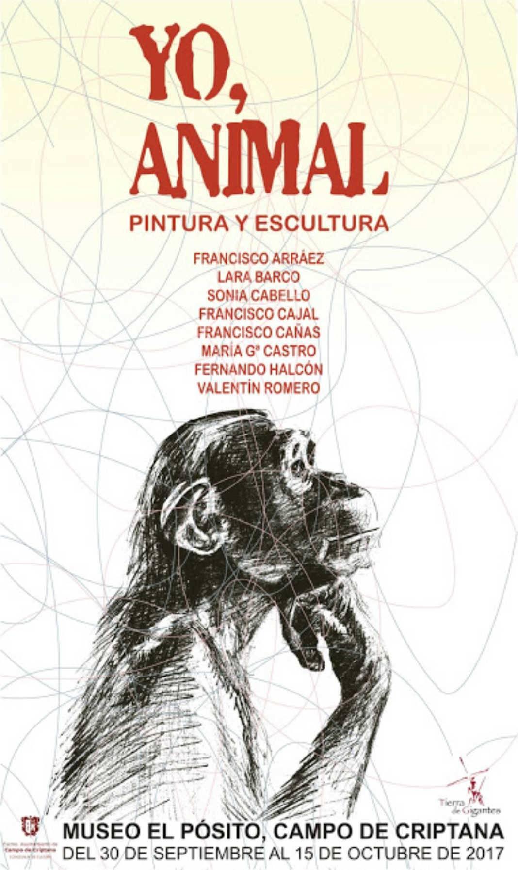 cartel exposicion yo animal 1068x1794 - Francisco Arráez participa en una nueva edición del grupo YO, ANIMAL