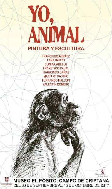 cartel exposicion yo animal - Francisco Arráez participa en una nueva edición del grupo YO, ANIMAL