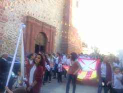 colegio ntra sra mercedes procesion imagen virgen 4 246x185 - El Colegio Ntra. Sra. de las Mercedes sacó en procesión la imagen de la Virgen