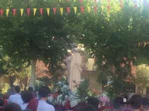 El Colegio Ntra. Sra. de las Mercedes sacó en procesión la imagen de la Virgen 1