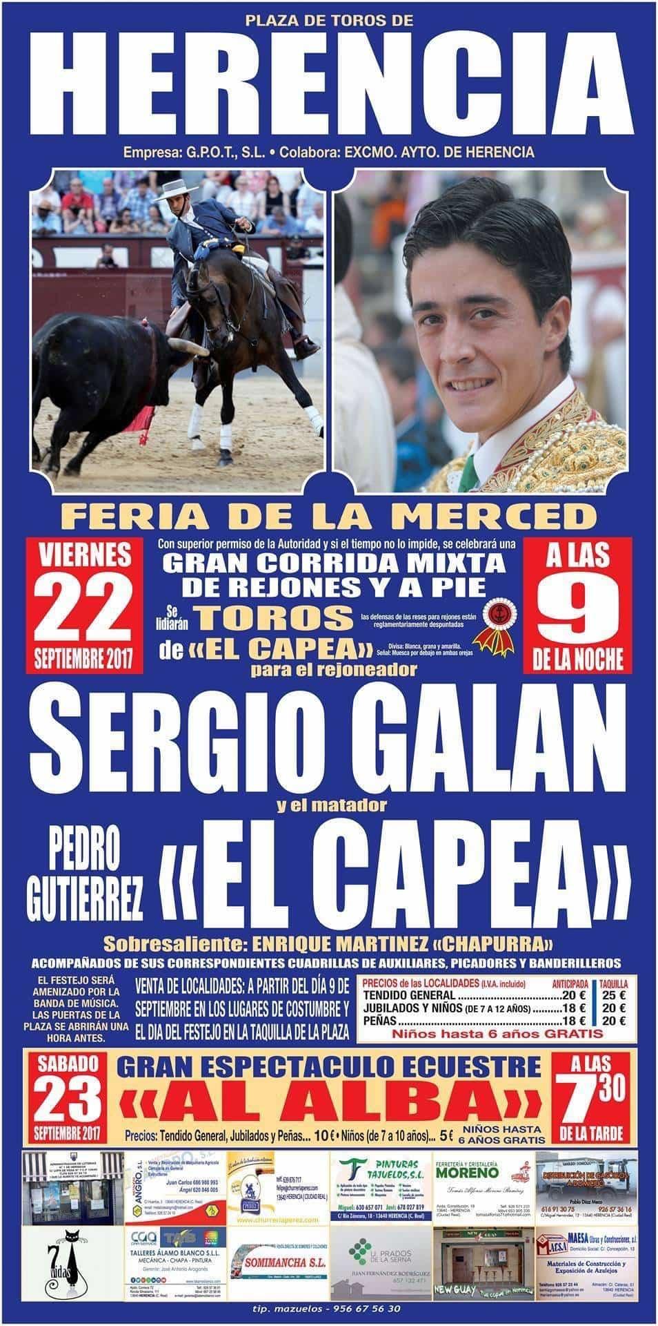 corrida de toros herencia en feria y fiestas 2017 - Corrida de toros con motivo de la Feria y Fiestas 2017 de Herencia