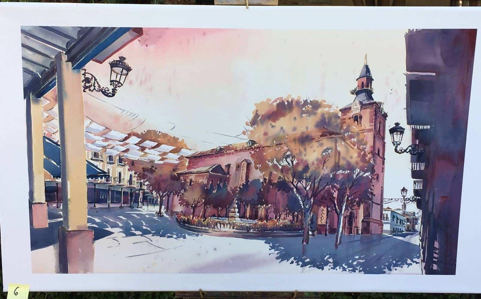 """cuadros partipantes XI pintura rapida herencia 5 - Orencio Murillo ganador del XI Certamen de Pintura Rápida """"Villa de Herencia"""""""